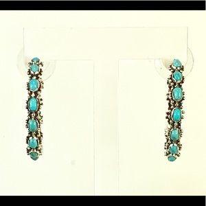 Kingman Turquoise Hoop Earrings
